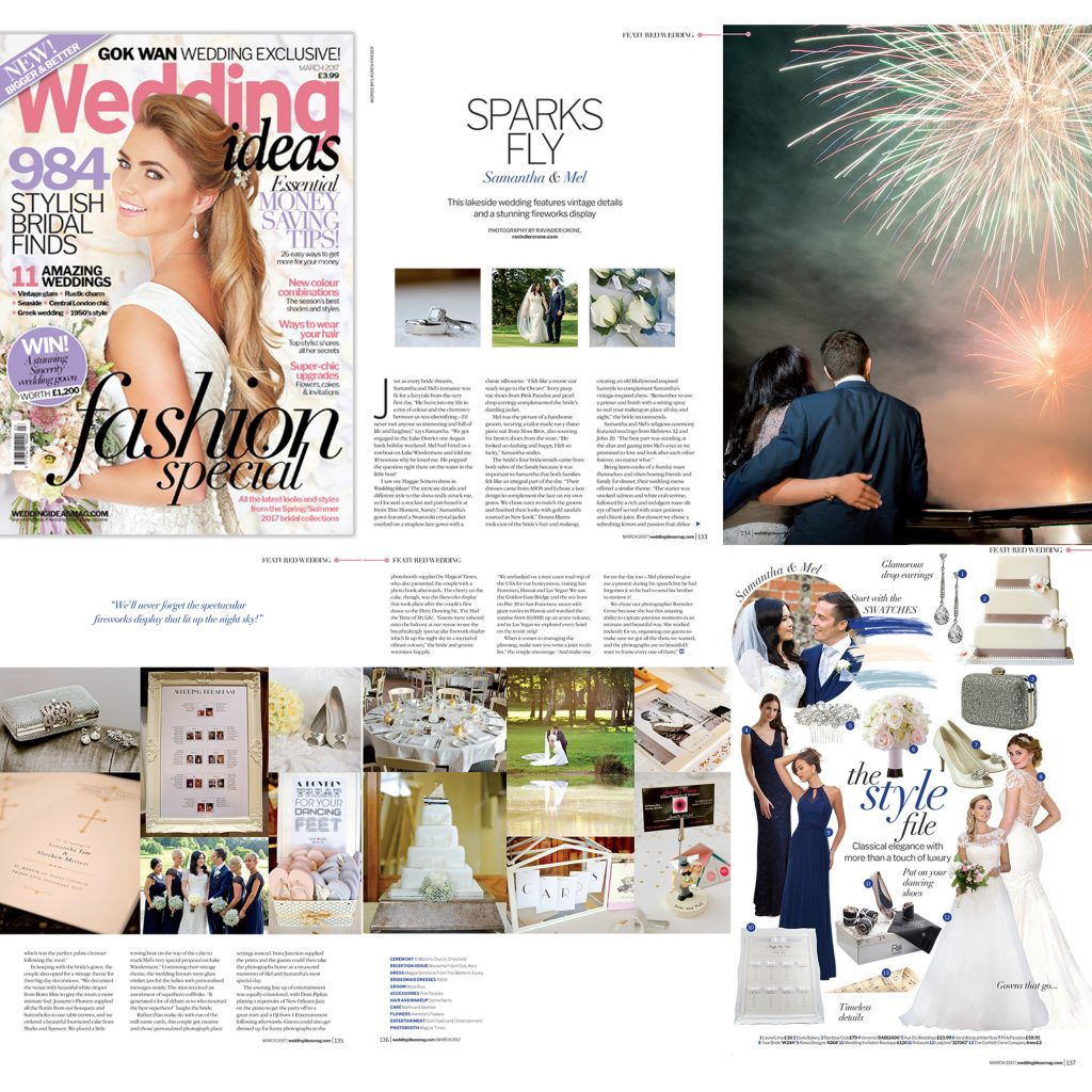 Published in Wedding Ideas Magazine March 2017 Issue 171